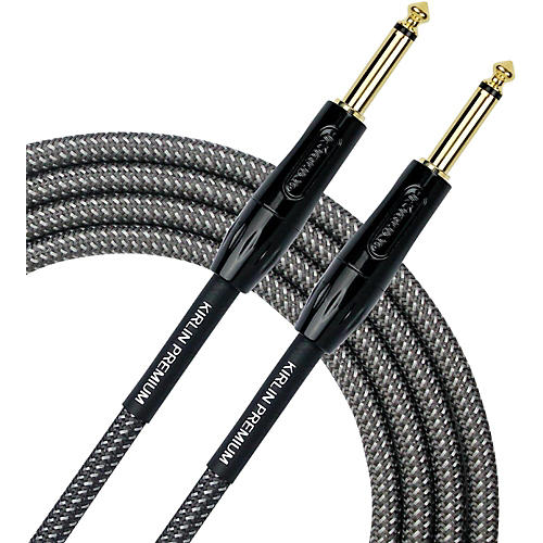 KIRLIN Premium Plus Instrument Cable with Carbon Gray Woven Jacket