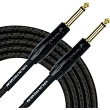 KIRLIN Premium Plus Instrument Cable with Charcoal Gray and Black Woven Jacket