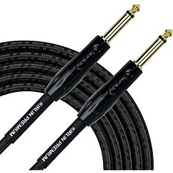 Premium Plus Instrument Cable with Charcoal Gray and Black Woven Jacket 20 ft.
