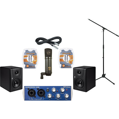 Mackie Presonus AudioBox and Mackie MR5 Recording Package