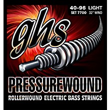 GHS Pressurewound Rollerwound Electric Bass Strings Light 40-96