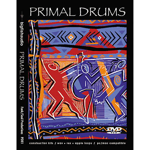 Big Fish Primal Drums Sample Library DVD