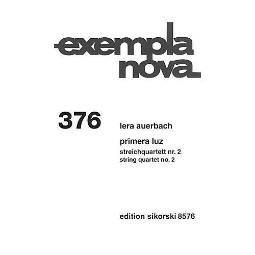Sikorski Primera Luz (The First Light) String Ensemble Series Composed by Lera Auerbach