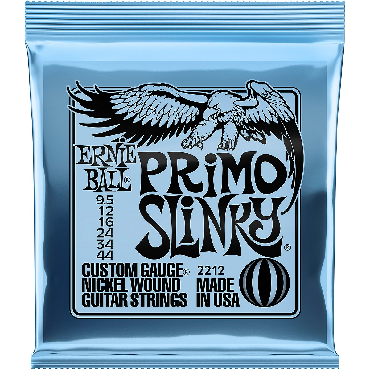 Ernie Ball Primo Slinky Nickel Wound Electric Guitar Strings  Gauge