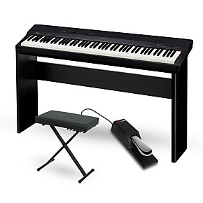 casio privia px 160bk digital piano with cs 67 stand sustain pedal and deluxe keyboard bench. Black Bedroom Furniture Sets. Home Design Ideas
