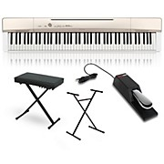 Privia PX-160GD Digital Piano with Stand Sustain Pedal and Deluxe Keyboard Bench