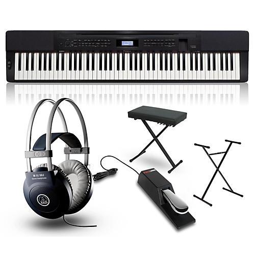 Casio Privia PX-350 Digital Piano Package - Black