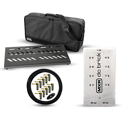 Gator Pro Aluminum Pedal Board Bundle with MXR Power Brick