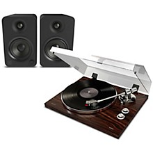 Pro BT500 Record Player Package with Kanto YU4 Powered Speakers Matte Black