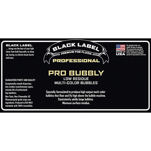 Black Label Pro Bubbly 55 gal. Professional Super Bubble Juice, Multi-color Bubbles, Low Residue