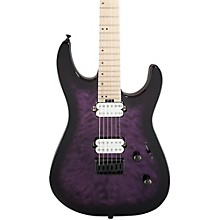 Pro Dinky DK2QM Electric Guitar Transparent Purple Burst