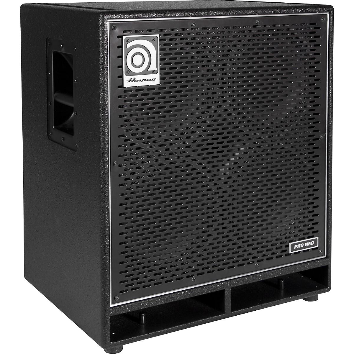 Ampeg Pro Neo Series PN-410HLF 850W 4x10 Bass Speaker Cabinet