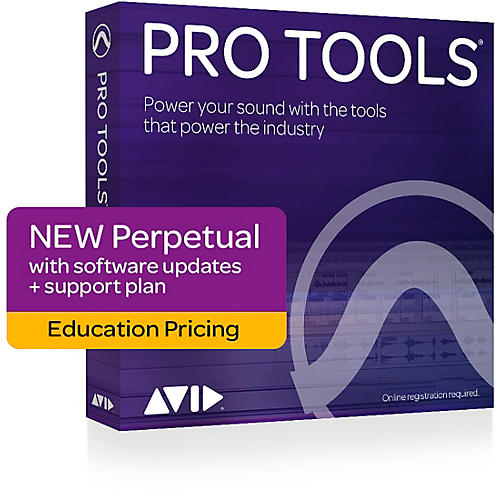 Avid Pro Tools 2018 with 1-Year of Updates + Support Plan Teachers/College Student (Boxed)