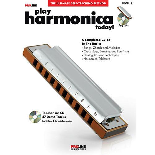 Proline ProLine Play Harmonica Today! Method Book with CD & DVD