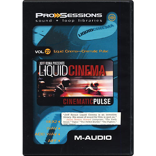 M-Audio ProSessions Vol. 27: Liquid Cinema - Cinematic Pulse Audio Loop Collection