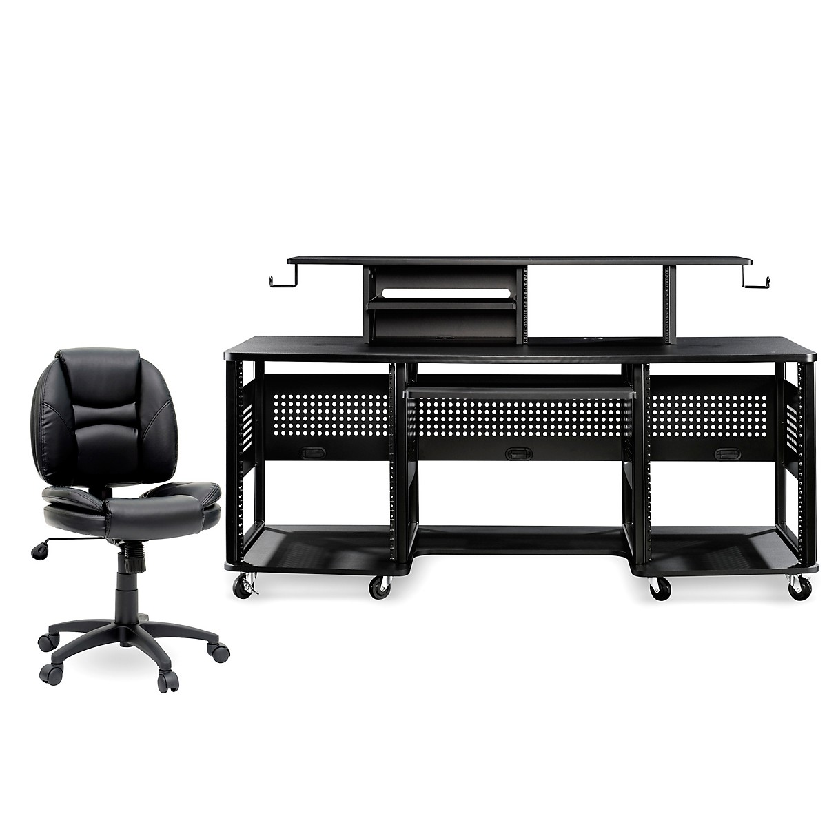 Studio RTA Producer Station Black and Task Chair DuraPlush Bundle