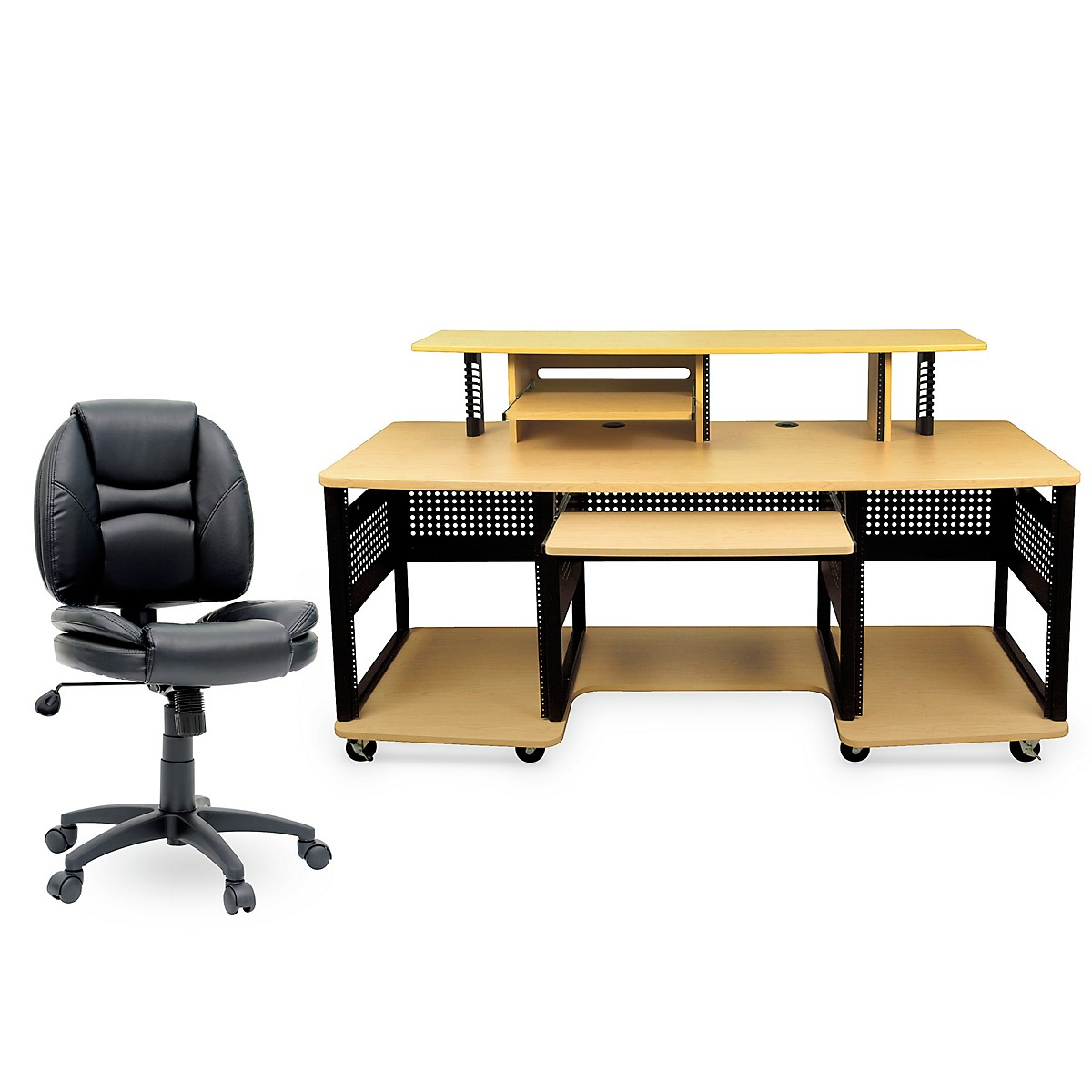 Studio RTA Producer Station Maple and Task Chair DuraPlush Bundle