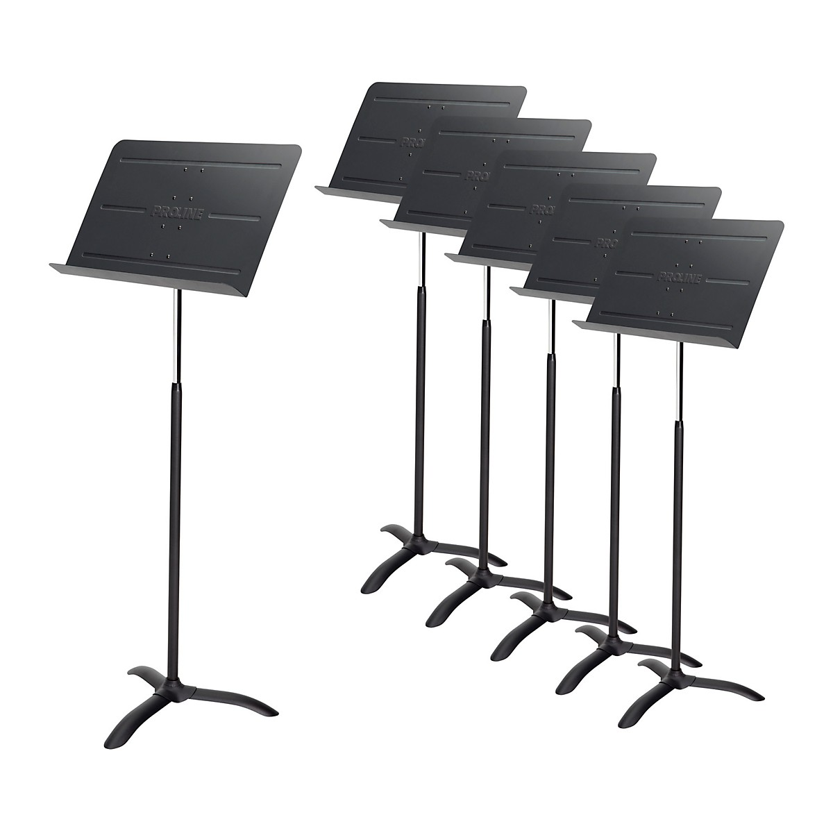 Proline Professional Orchestral Music Stand Black - 6-Pack