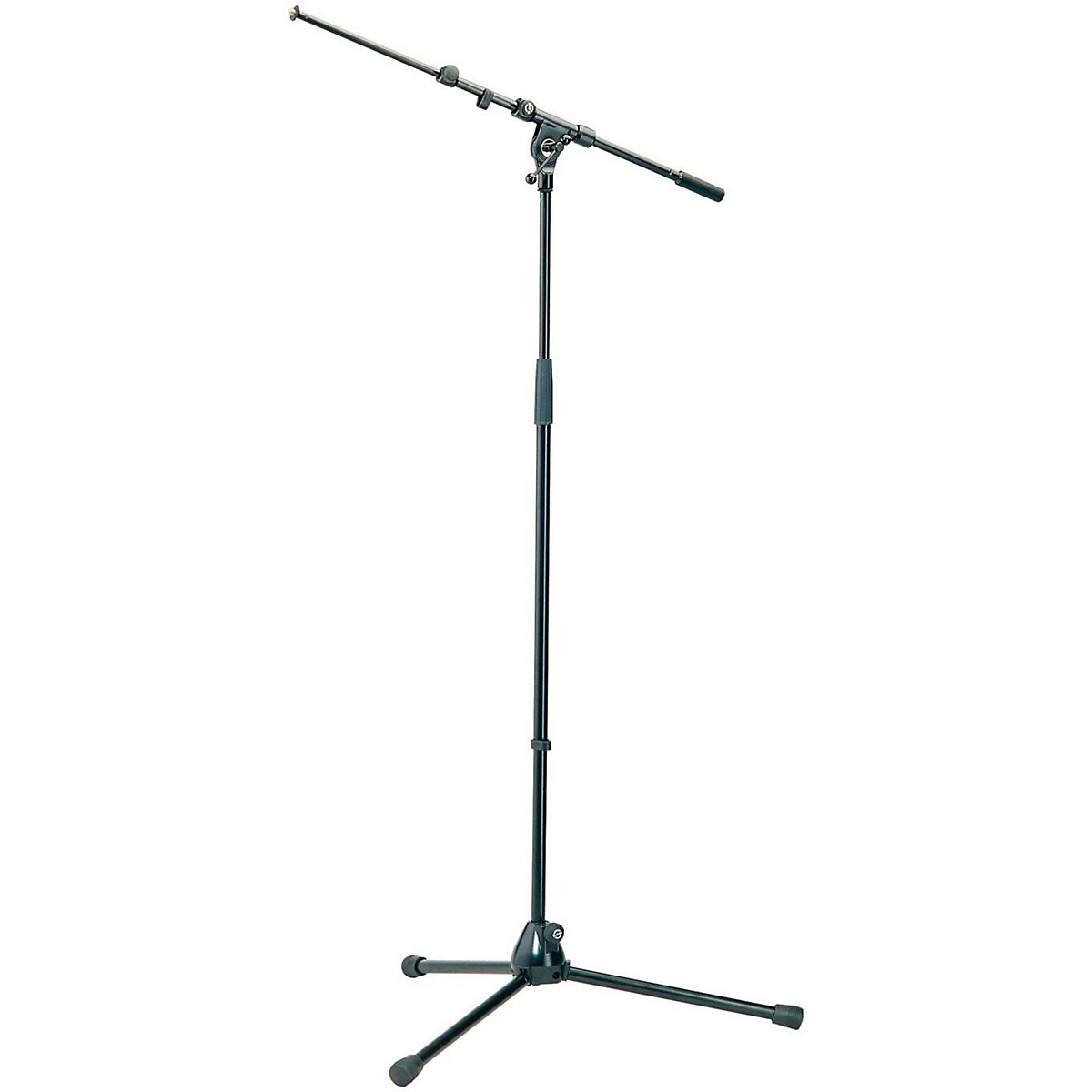 K&M Professional Top-Line Tripod Microphone Stand with Telescoping Boom Arm - Black