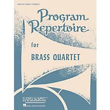 Rubank Publications Program Repertoire for Brass Quartet (1st B-flat Cornet/Trumpet) Ensemble Collection Series