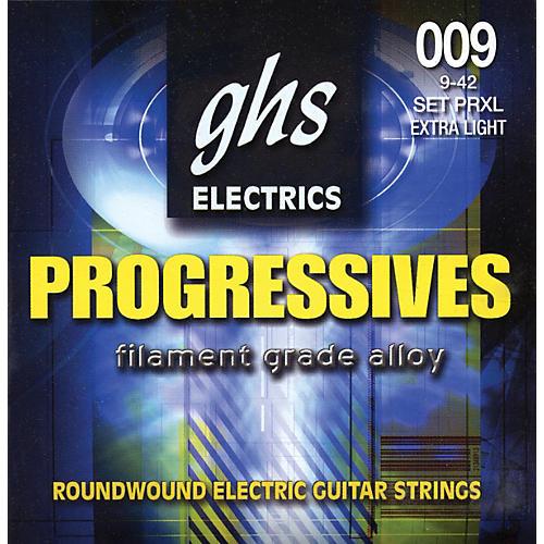 GHS Progressives Electric Guitar Strings Extra Light