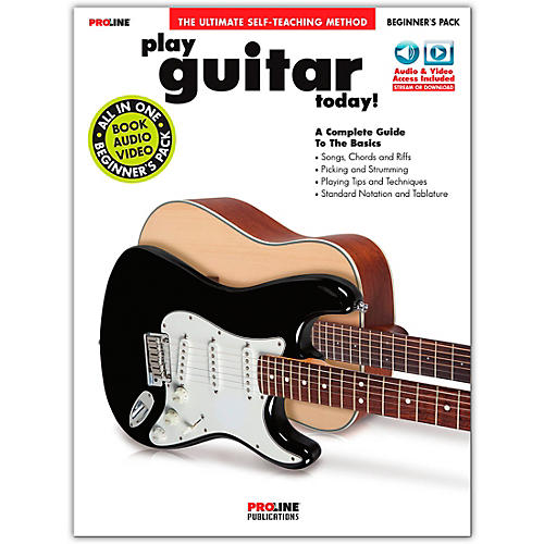 Proline Proline Play Guitar Today Beginner's Pack Book/Audio & Video Online