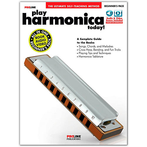 Proline Proline Play Harmonica Today Beginner's Pack Book/Audio & Video Online