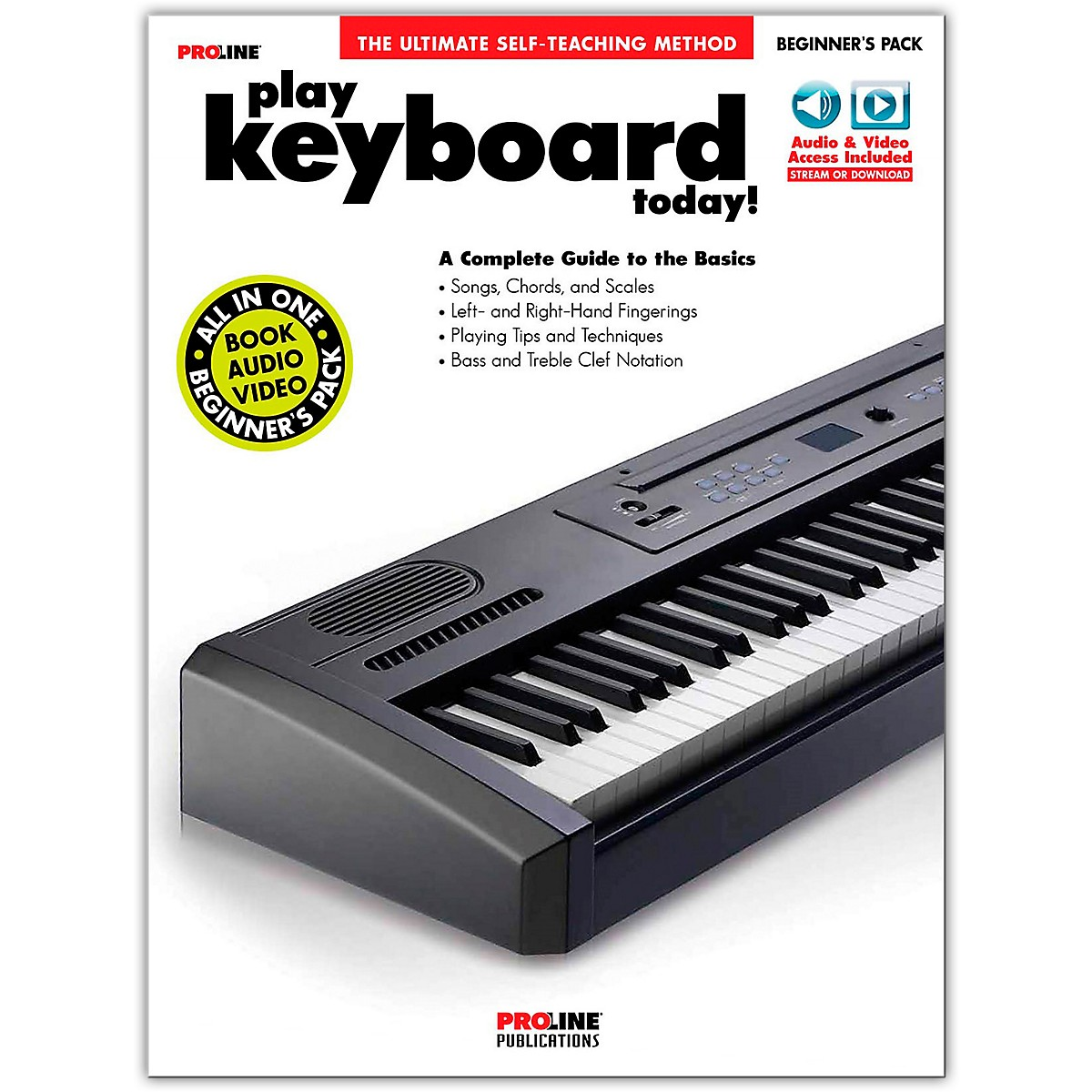 Proline Proline Play Keyboard Today Beginner's Pack Book/Audio & Video Online