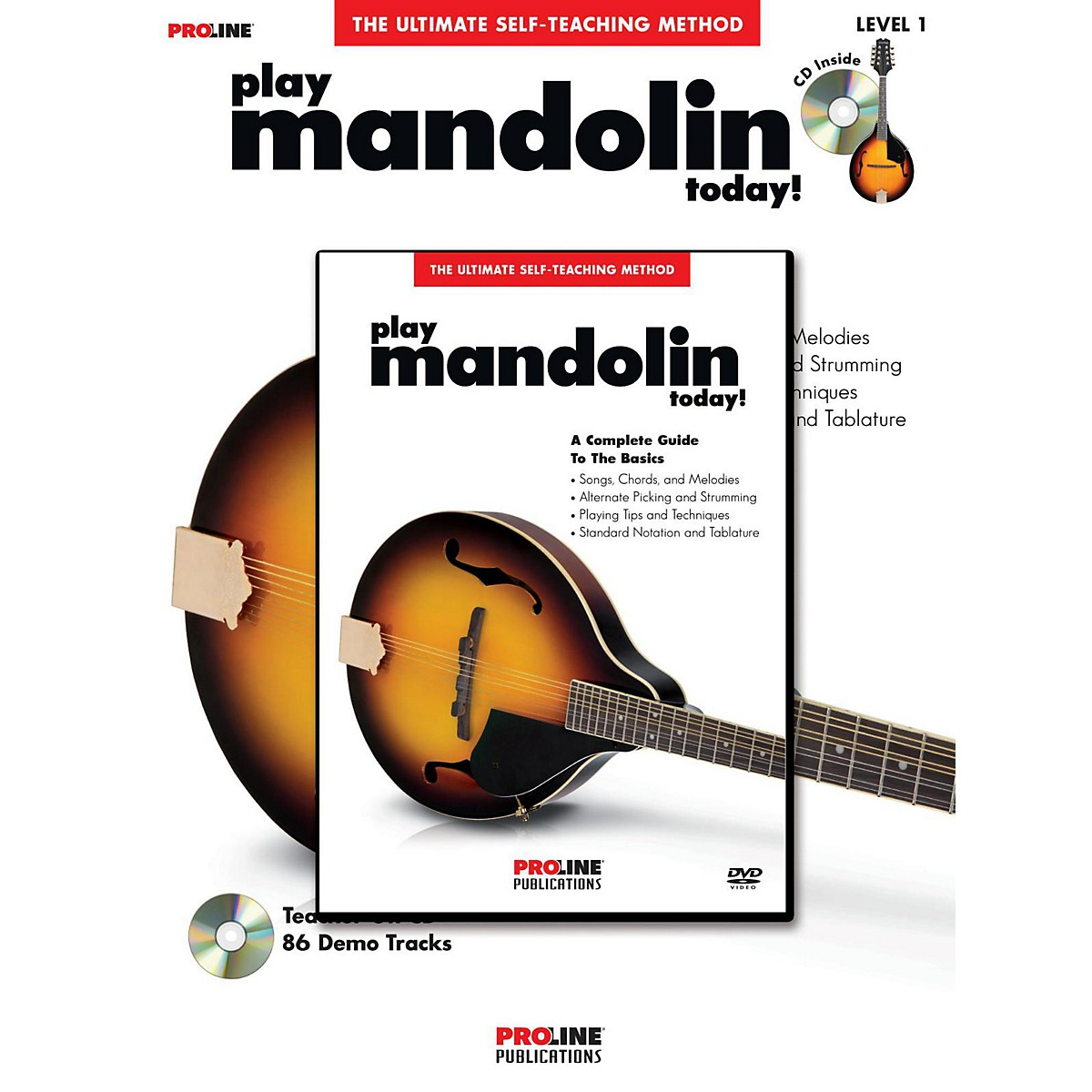 Proline Proline Play Mandolin Today! Method Book with CD & DVD