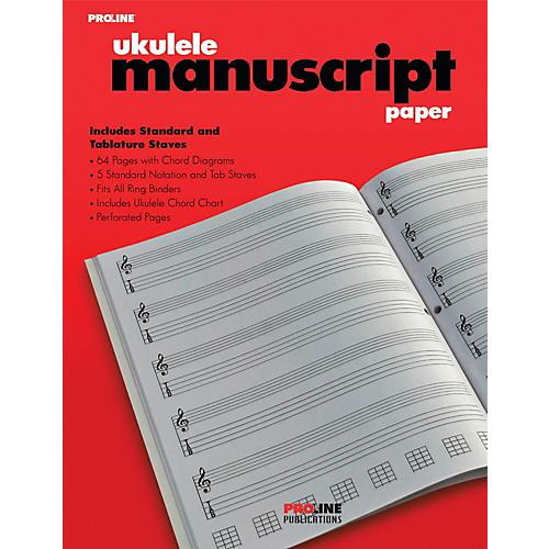 Proline Proline Ukulele Manuscript Paper Pad