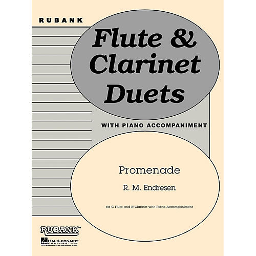 Hal Leonard Promenade (C Flute, Bb Clarinet and Piano - Grade 3) Rubank Solo/Ensemble Sheet Series