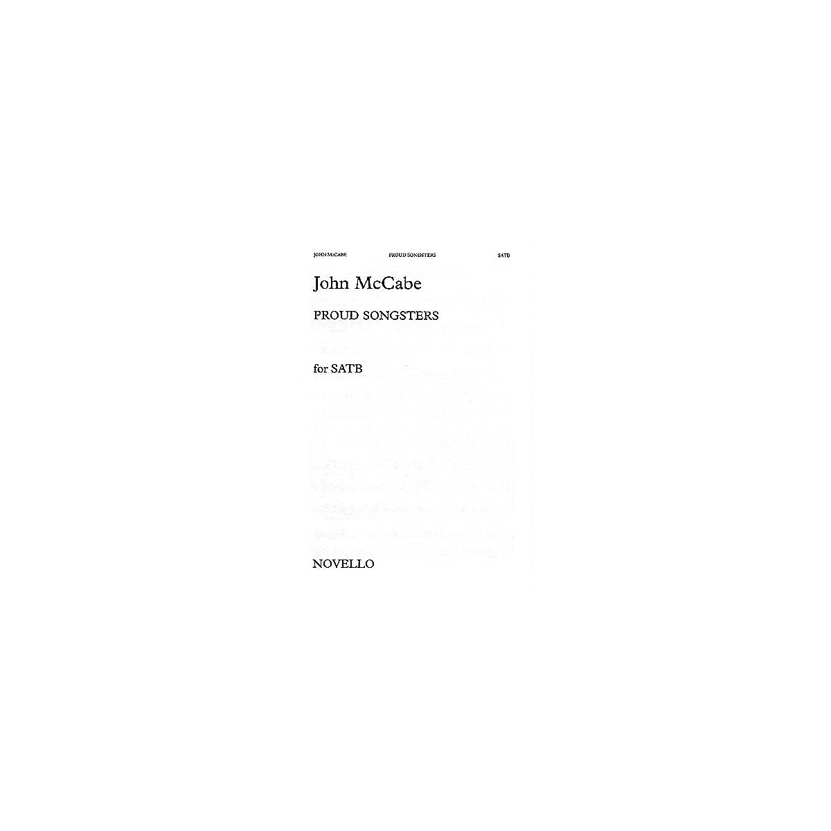 Novello Proud Songsters SATB Composed by John McCabe