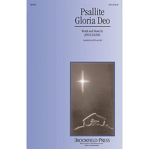 Brookfield Psallite Gloria Deo SAB composed by Joyce Eilers