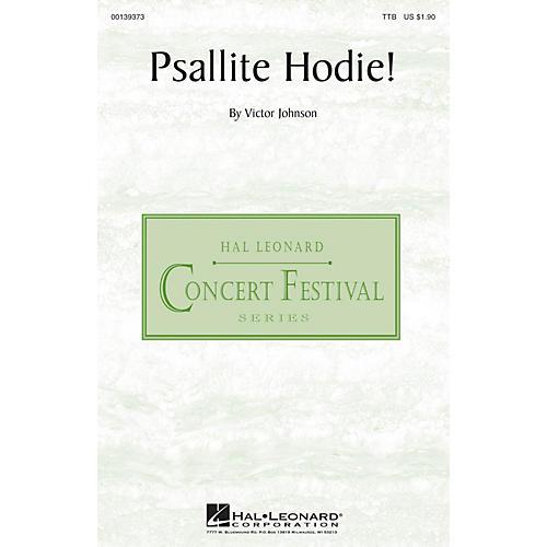 Hal Leonard Psallite Hodie! TTB composed by Victor C. Johnson