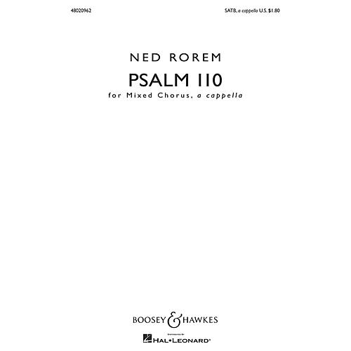 Boosey and Hawkes Psalm 110 SATB a cappella composed by Ned Rorem