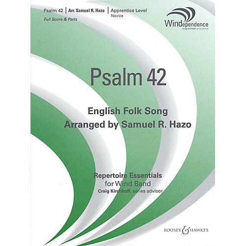 Boosey and Hawkes Psalm 42 Concert Band Level 2-3 Composed by Samuel R. Hazo