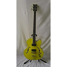 Dean Psycho Yellow Taxi Cabbie Hollowbody Electric Bass Guitar