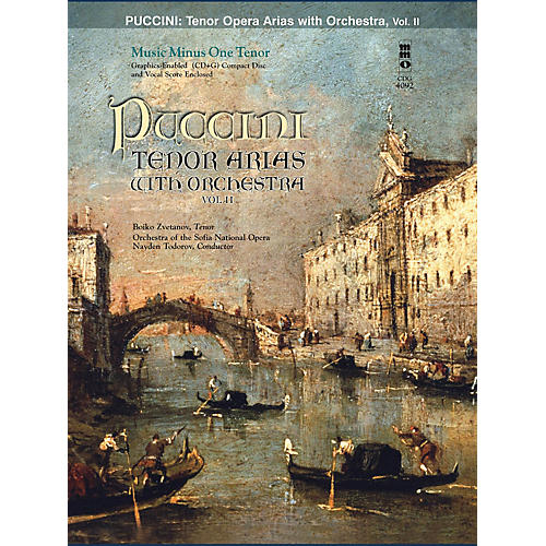 Music Minus One Puccini Arias for Tenor and Orchestra - Vol. II Music Minus One Softcover with CD by Giacomo Puccini