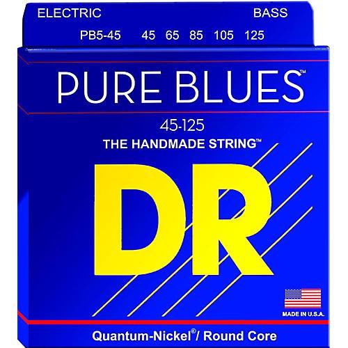 DR Strings Pure Blues Medium 5-String Bass Strings (45-125)