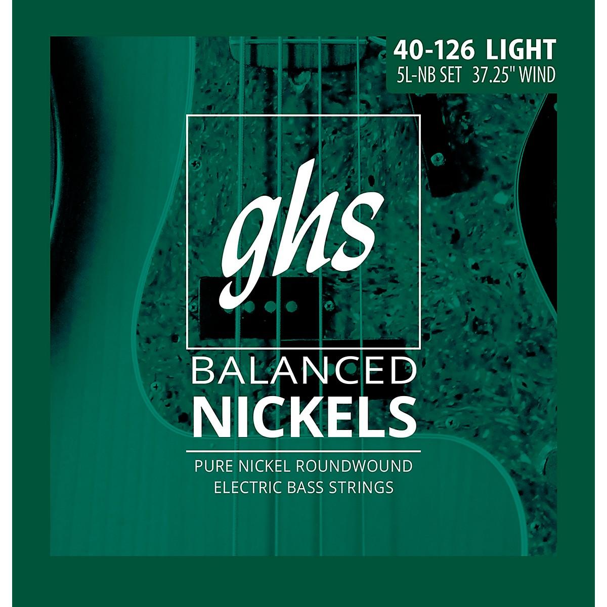 GHS Pure Nickel Roundwound Light 40-126