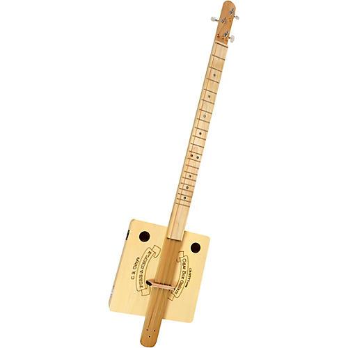c b gitty pure simple fretted 3 string cigar box guitar kit natural guitar center. Black Bedroom Furniture Sets. Home Design Ideas