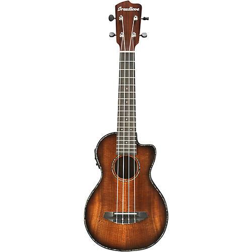 breedlove pursuit concert acoustic electric ukulele sunburst guitar center. Black Bedroom Furniture Sets. Home Design Ideas
