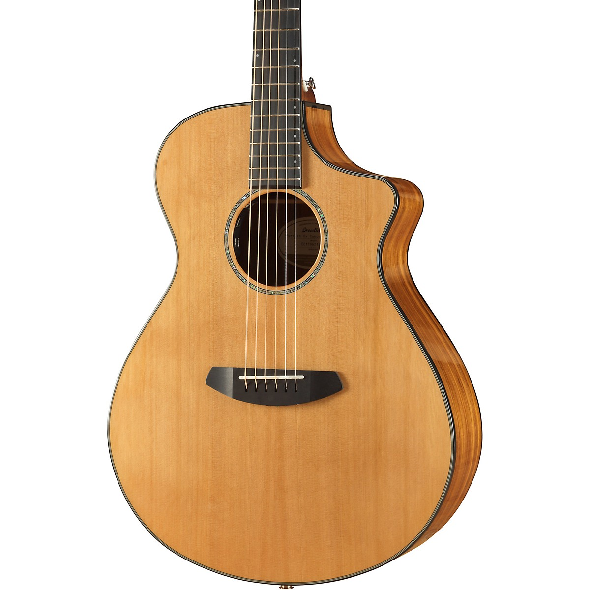 Breedlove Pursuit Concert All-Gloss Red Cedar-Ovangkol Acoustic-Electric Guitar With Gig Bag