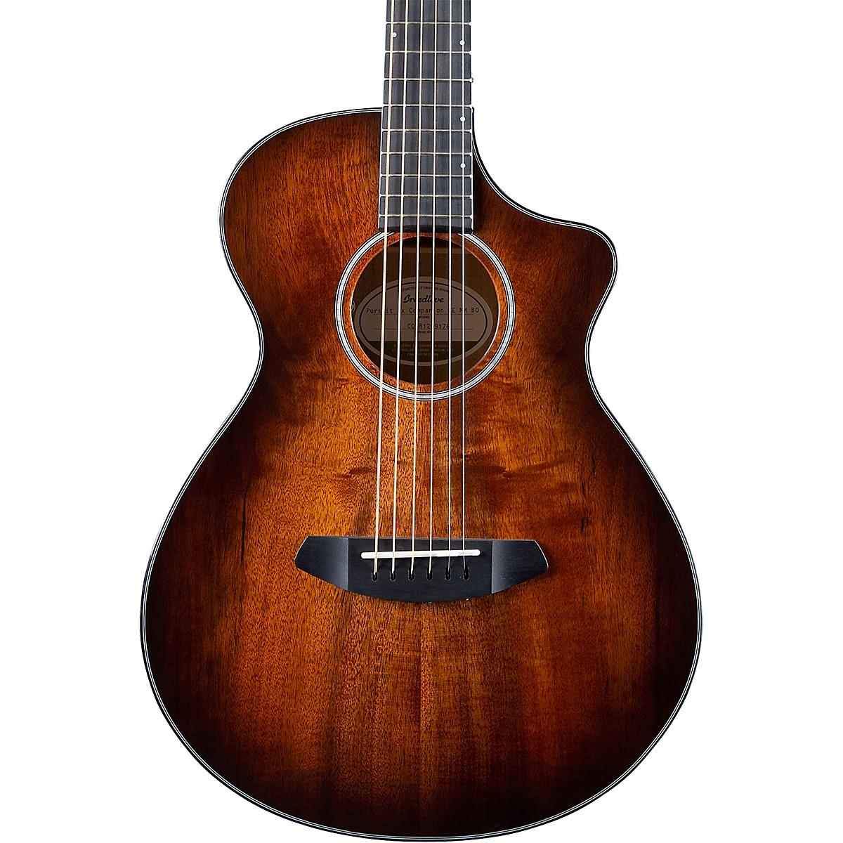 Breedlove Pursuit Exotic Companion CE Myrtlewood-Myrtlewood Travel Acoustic-Electric Guitar