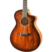 Breedlove Pursuit Exotic Concert Bourbon CE Myrtlewood - Myrtlewood Acoustic-Electric Guitar Level 1 Bourbon Sunset Burst