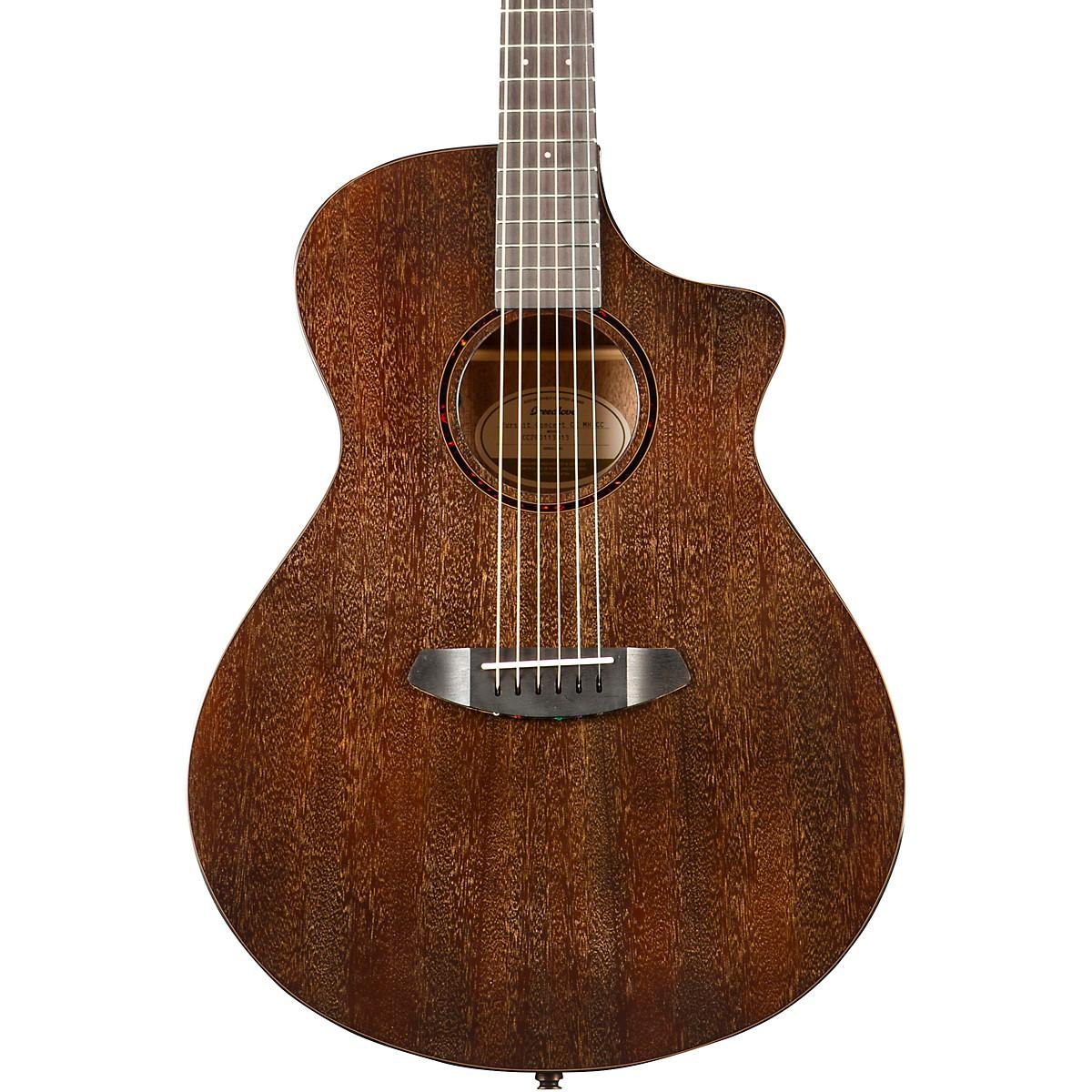 Breedlove Pursuit Exotic Concert Chocolate Box CE Mahogany-Mahogany Acoustic-Electric Guitar