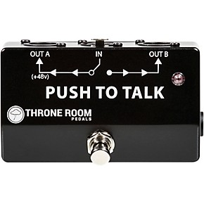 throne room pedals push to talk box momentary xlr a b switcher guitar center. Black Bedroom Furniture Sets. Home Design Ideas