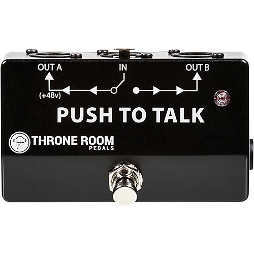 Throne Room Pedals Push To Talk Box Momentary XLR A/B Switcher
