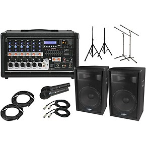 peavey pvi6500 with s715 15 speaker pa package guitar center. Black Bedroom Furniture Sets. Home Design Ideas