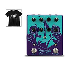 Earthquaker Devices Pyramids Stereo Flanging Device Effects Pedal and Octoskull T-Shirt Large Black